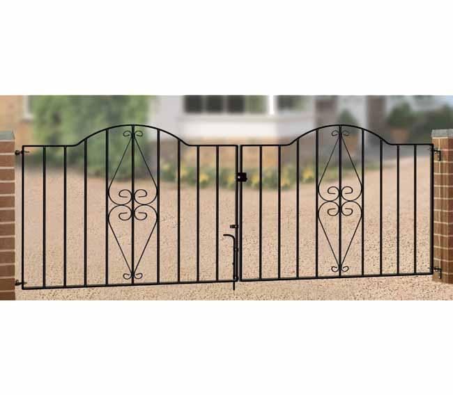 hedj henley scroll double driveway gate
