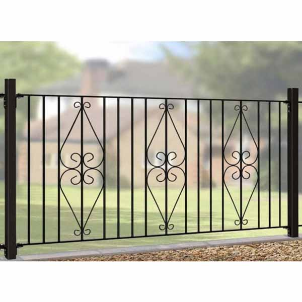 Wrought Iron Fencing Panel - Henley Range