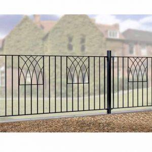 Metal Garden Fencing - Verona Range