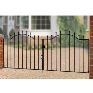 wedj weston ball top double driveway gate