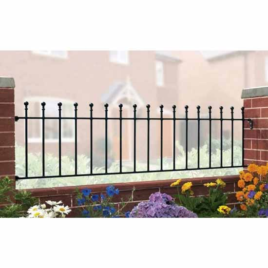 Weston ball top railing panel with fittings supreme
