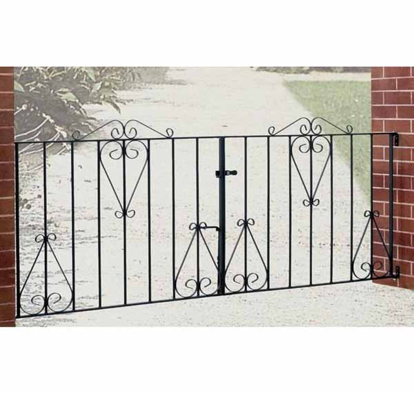 cd10 classic scroll double driveway gate