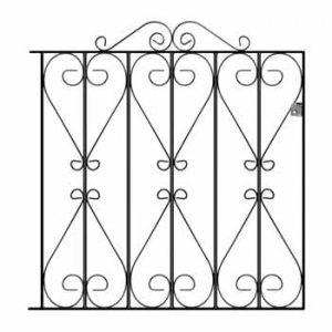 Wrought Iron Garden Gates - Regent Scroll Range