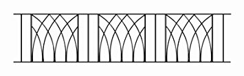 Abbey Modern Railing Panel