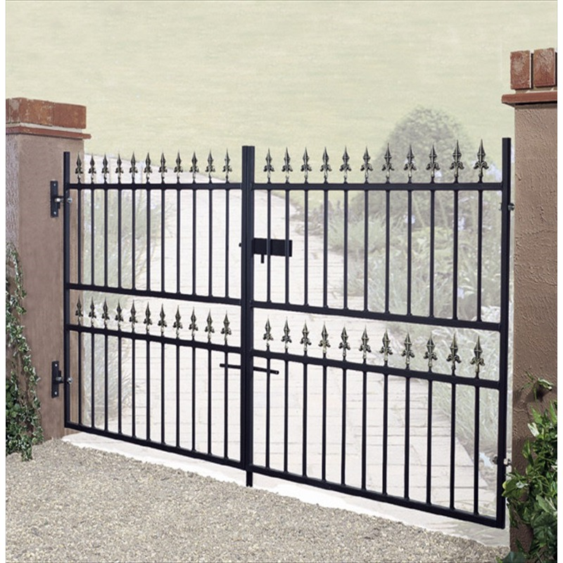 Corfe Premium Fleur-De-Lys Spear Top Low Flat Top Double Gate
