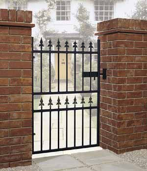 Corfe Premium Fleur-De-Lys Spear Top Single Gate