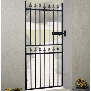 Corfe Premium Fleur-De-Lys Spear Top Tall Single Gate