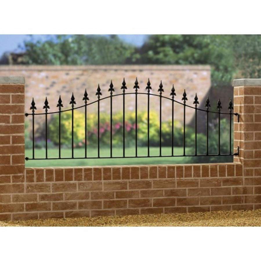 Gaelic Safety Fleur-De-Lys Spear Top Arched Railing Panel