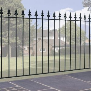 Gaelic Safety Fleur-De-Lys Spear Top Fence Panel