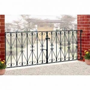 Wrought Iron Double Gates - Regent Scroll