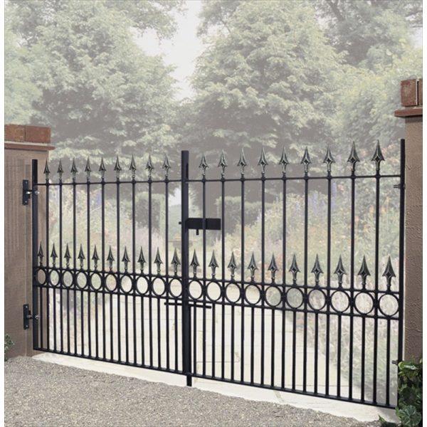 Balmoral Premium Spear Top Low Double Driveway Gate