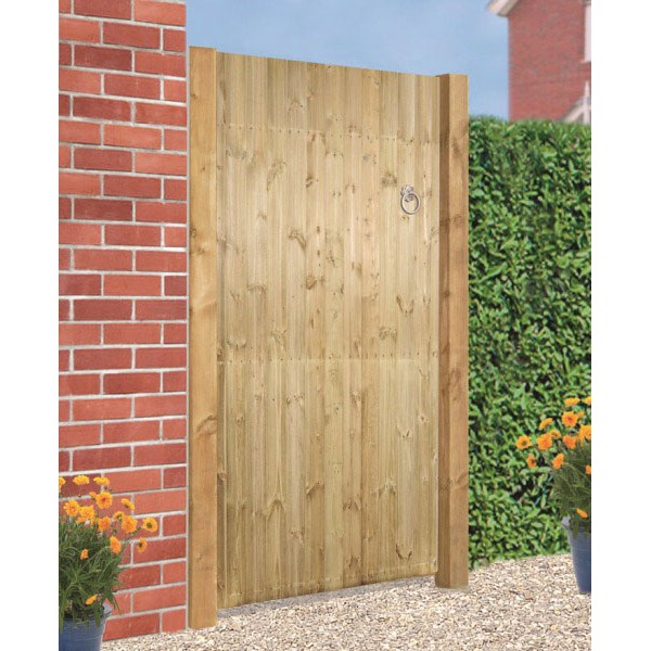 Carlton Wooden Square Top Tall Single Gate