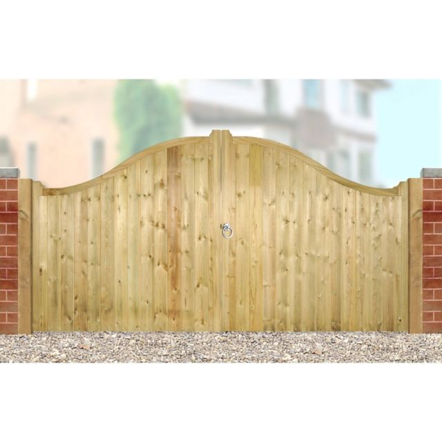 Drayton Shaped Top Wooden Low Double Gate