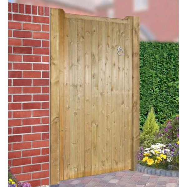 Drayton Square Top Wooden Tall Single Gate