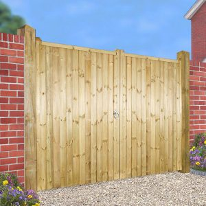 Drayton Square Top Wooden Tall Double Driveway Gate