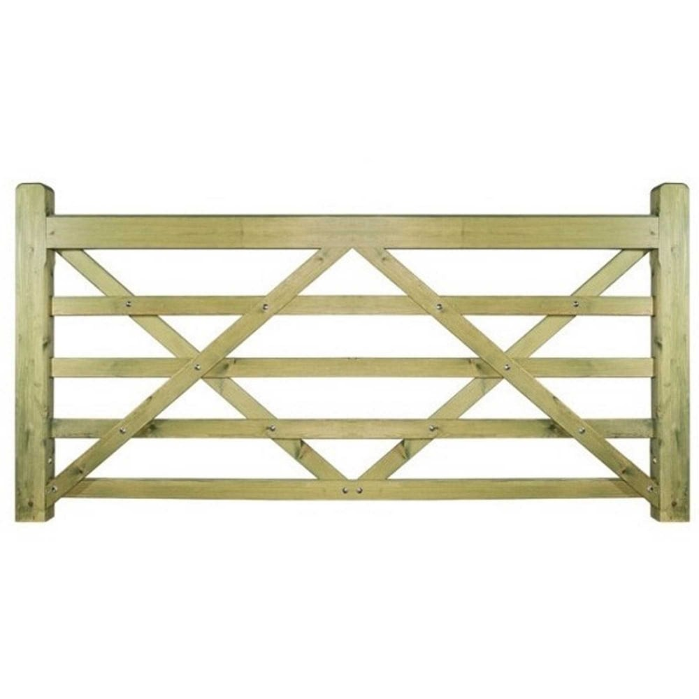 Evington Wooden 5 Bar Farmfield Style Gate Large