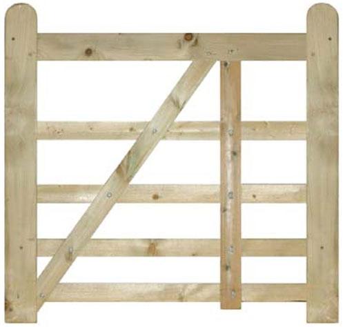 Evington Wooden Farm Style Gate Small