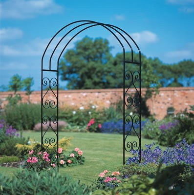 garden rose scroll rose arch large york supreme ironworks the uk 39 s cheapest online metal. Black Bedroom Furniture Sets. Home Design Ideas