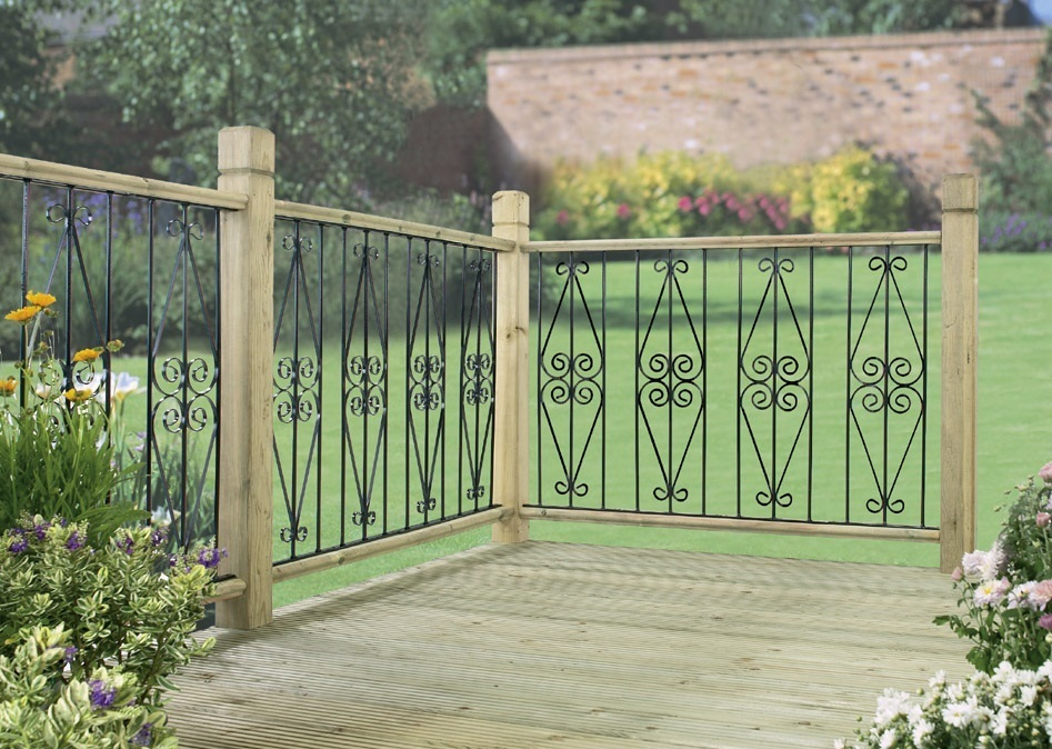 Metal deck fencing panels archives supreme ironworks for Flat pack garden decking