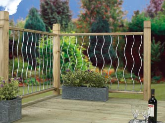 Metal Deck Fencing Panels Swirl