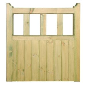 Quorn Wooden Single Garden Gate Front