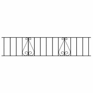 CL06 Classic Scroll Railing Panel