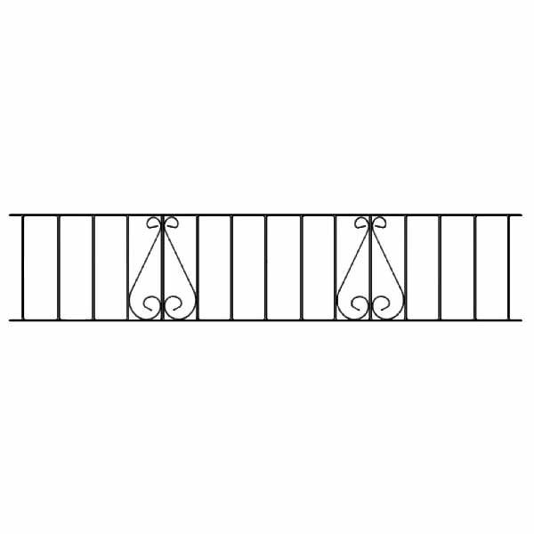 CL06 Classic Scroll Railing Panel