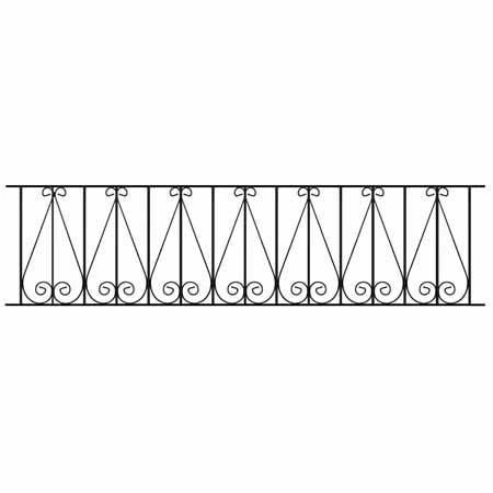 Exterior Wrought Iron Railing - Regent Scroll